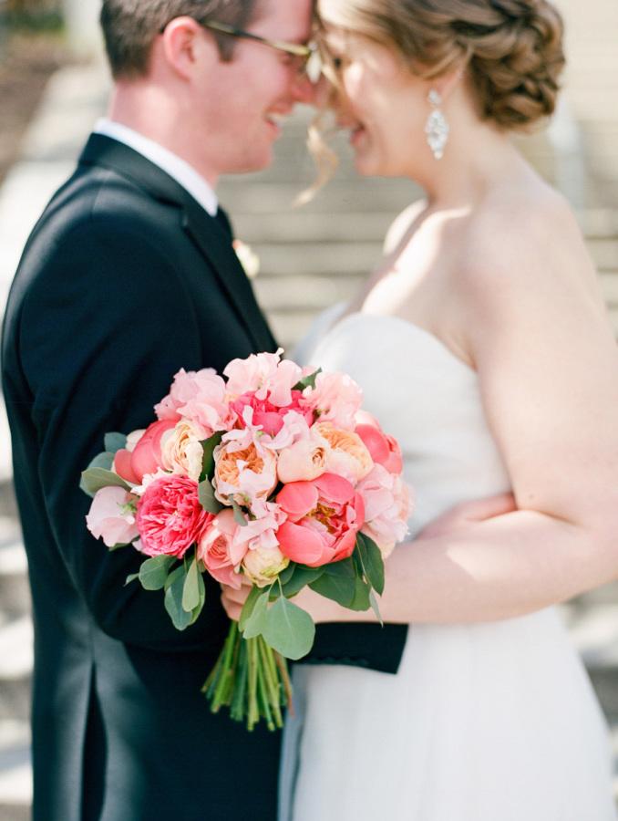 Style Me Pretty | Romantic Pink & Black New Hampshire Wedding