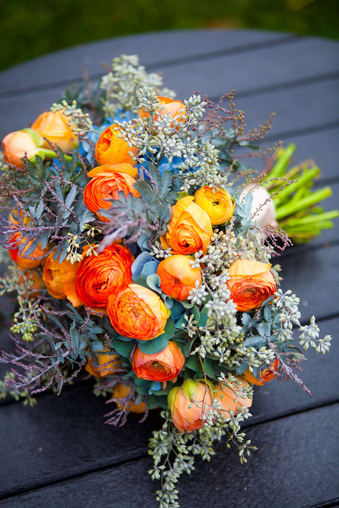 Southern New England Weddings | Vibrant, Island-Inspired Bouquet by Nectar
