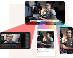 Showing an example on how to cherry pick the best parts of a video and share them on different platforms.