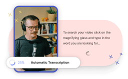 An image showing a male person on the left and a text on the right and a modal saying automatic translation.