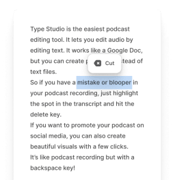 Podcast Text-Based Editing