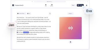 Type Studio Podcast Editor