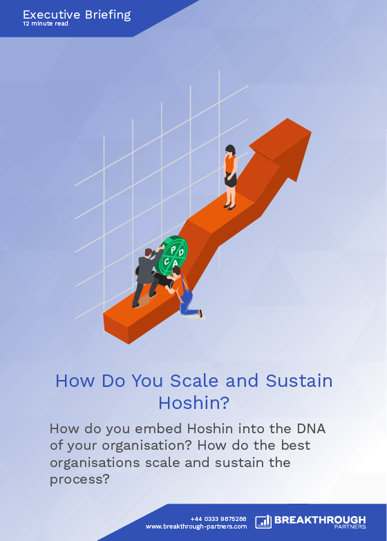 How Do You Scale and Sustain Hoshin?