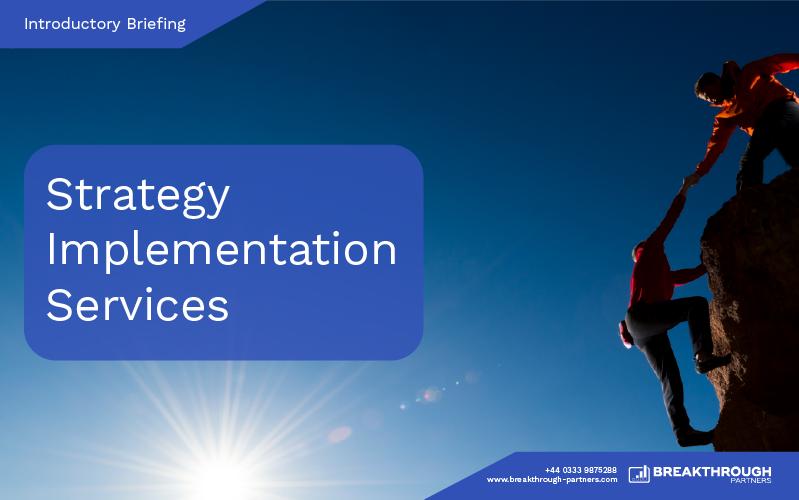 Breakthrough Partners Strategy Implementation Services Brochure