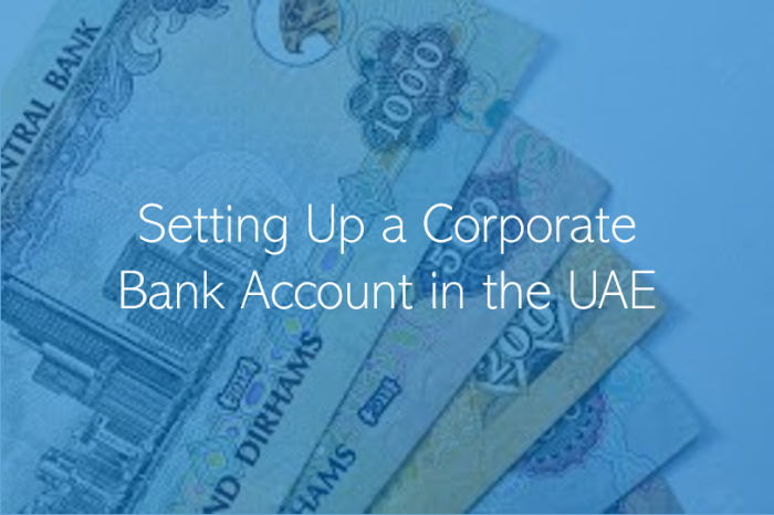 Setting Up a Corporate Bank Account in the UAE