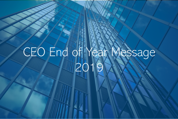 CEO End of Year Message
