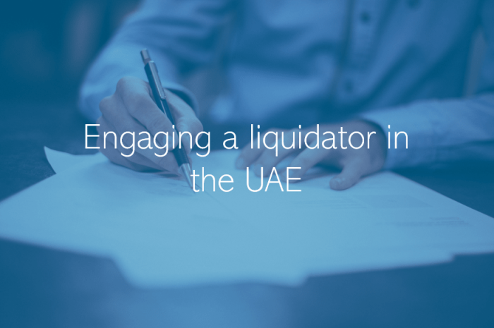 Company Liquidation Dubai Abu Dhabi Engaging a liquidator in the UAE