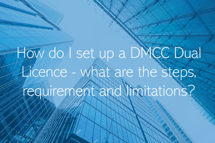 How do I set up a DMCC Dual Licence - what are the steps, requirement and limitations