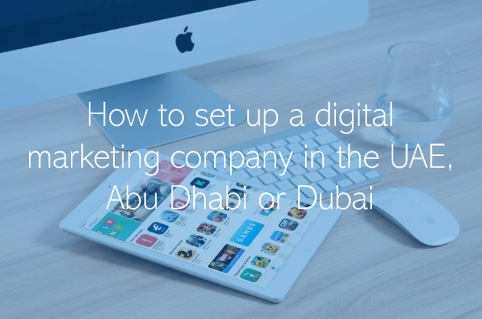 How do I set up a digital marketing company or agency in the UAE Abu Dhabi or Dubai