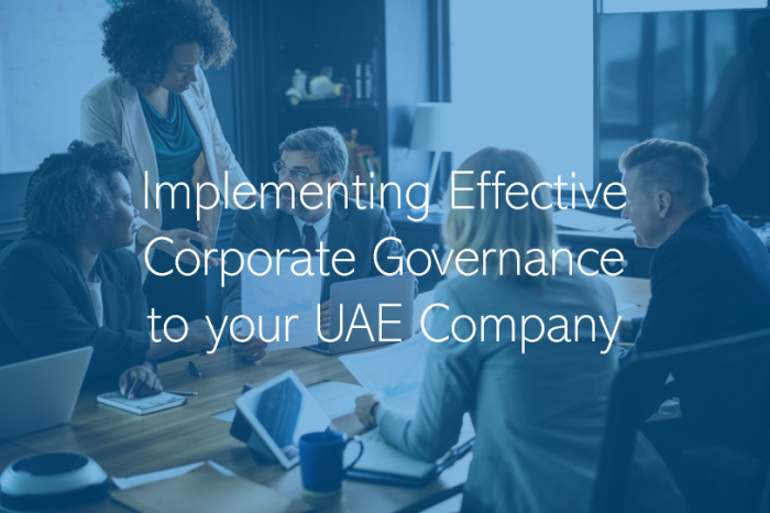 Implementing Effective Corporate Governance for UAE Companies