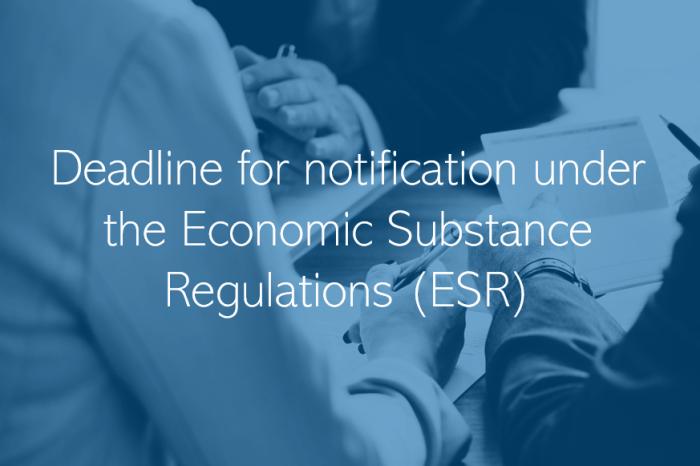 UAE Economic Substance notification update deadline extended