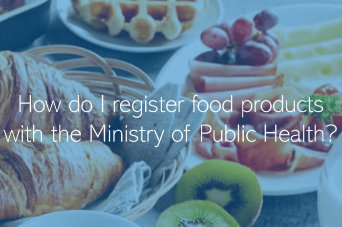 How do I register food products with the Ministry of Public Health Doha Qatar