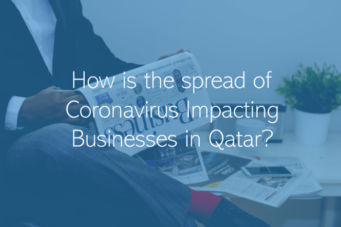 How is the spread of Coronavirus Impacting Businesses in Doha Qatar