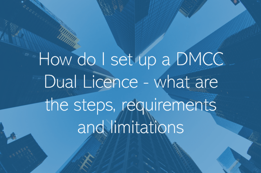 How do I set up a DMCC Dual Licence - what are the steps, requirements and limitations