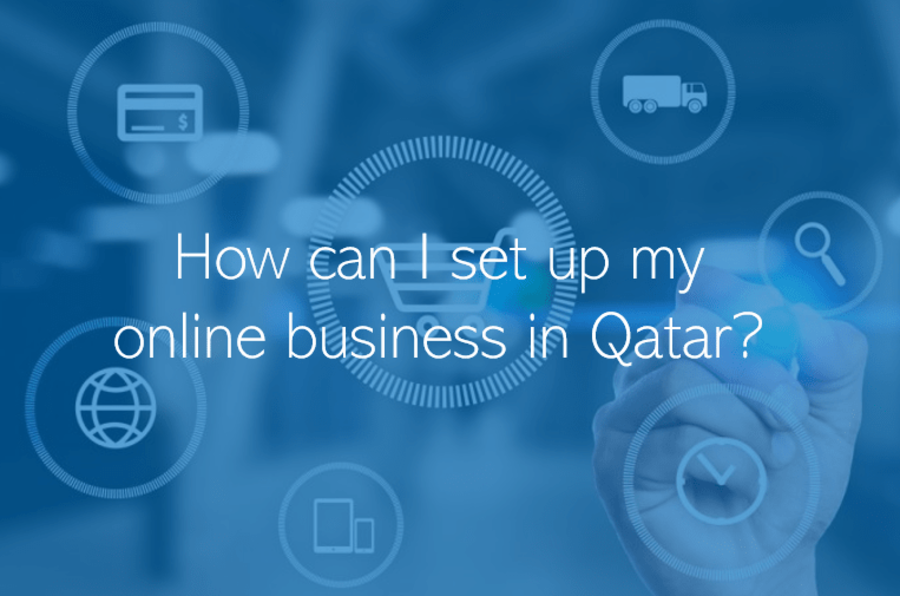 How can I set up my online business in Qatar