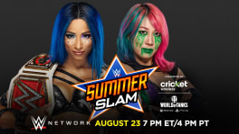 Affiche SummerSlam 2020 Asuka vs Sasha Banks