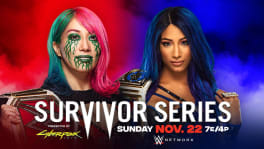 Affiche Raw Women's Champion Asuka vs. SmackDown Women's Champion Sasha Banks Survivor Series 2020