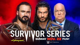 Affiche WWE Champion Drew McIntyre to battle Universal Champion Roman Reigns Survivor Series 2020