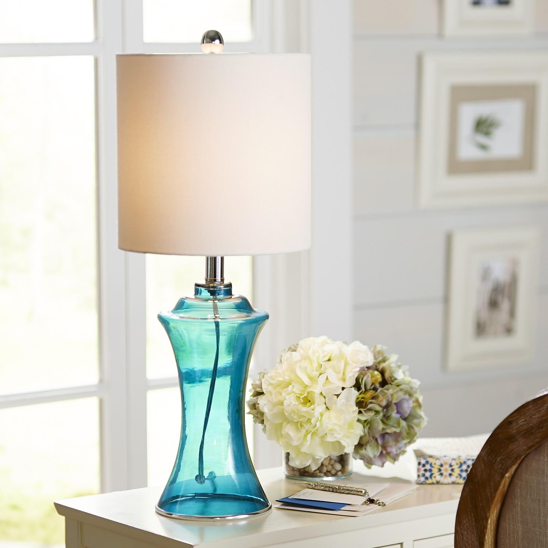 Aqua Sea Glass Table Lamp - Pier1 Imports
