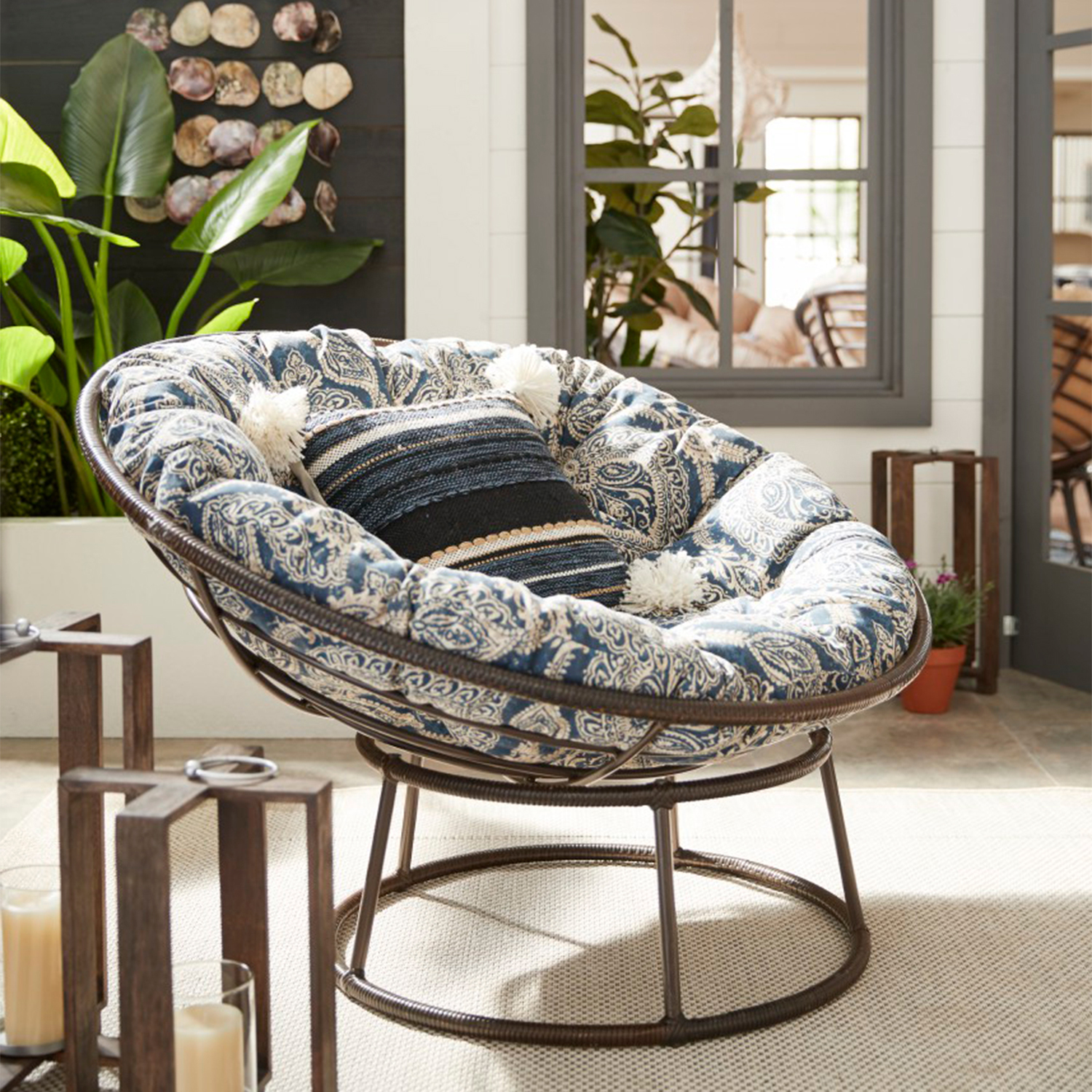 Papasan Taupe Chair Frame Pier1 Imports