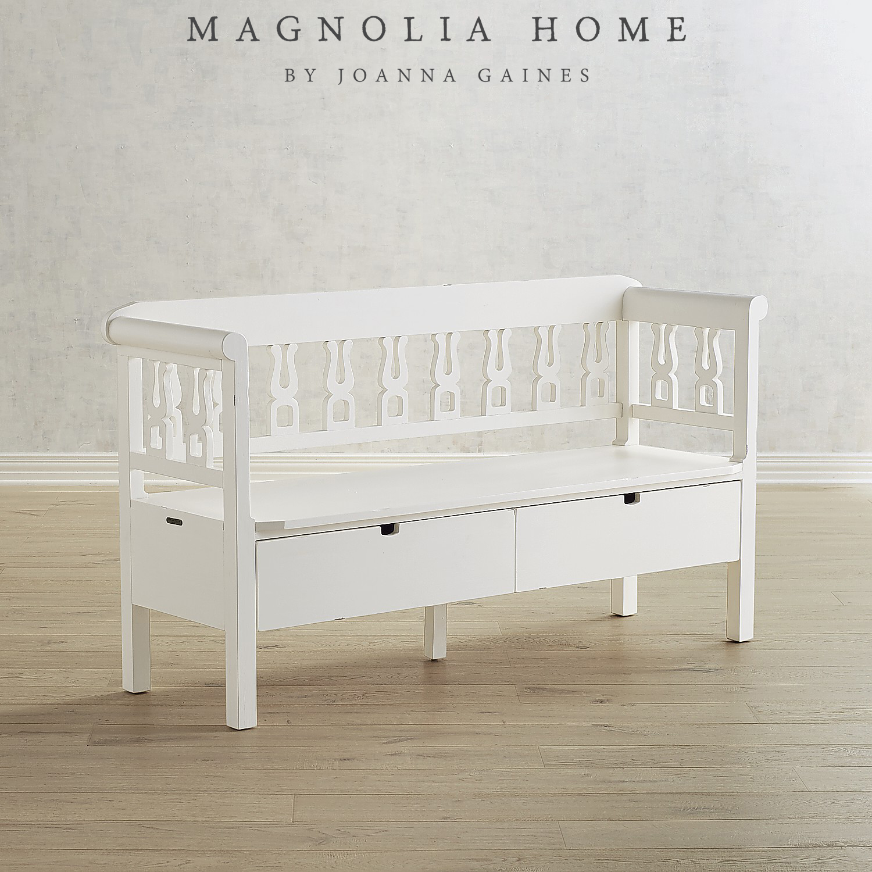 Magnolia Home White Hall Bench