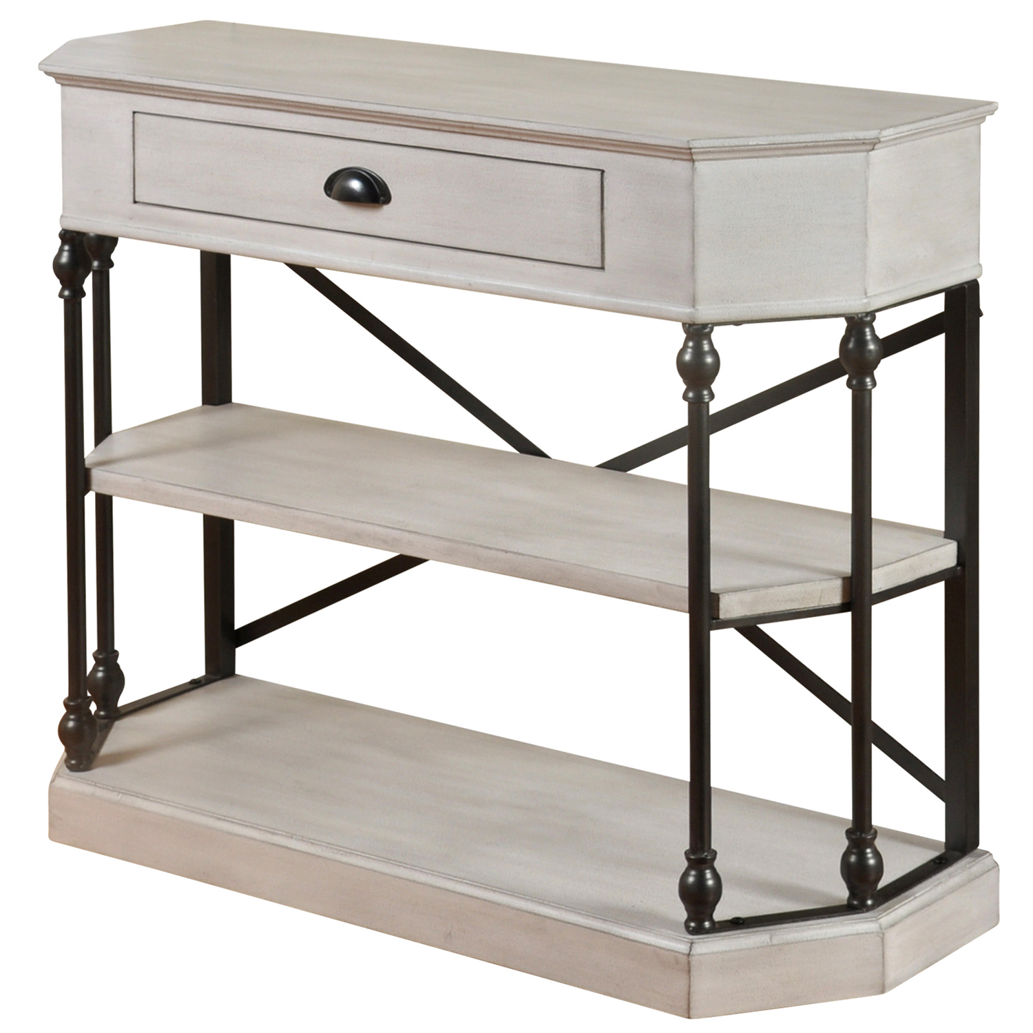 Picture of: 3 Tier Antique White Console Table Pier 1
