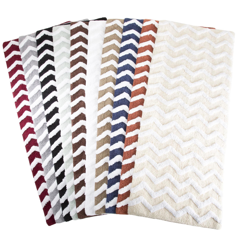 chevron large bath rug - pier1 imports