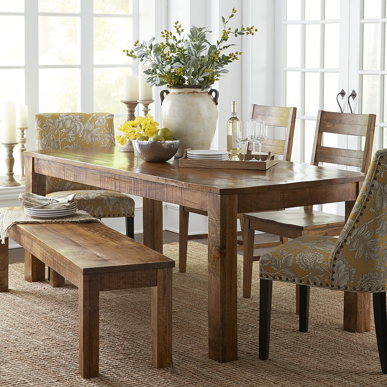 """Parsons 100"""" Dining Table - Pier 10"""