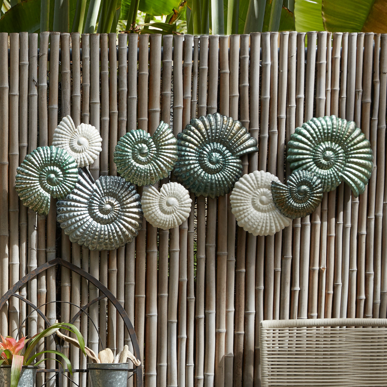 Nautical Shells Metal Wall Decor