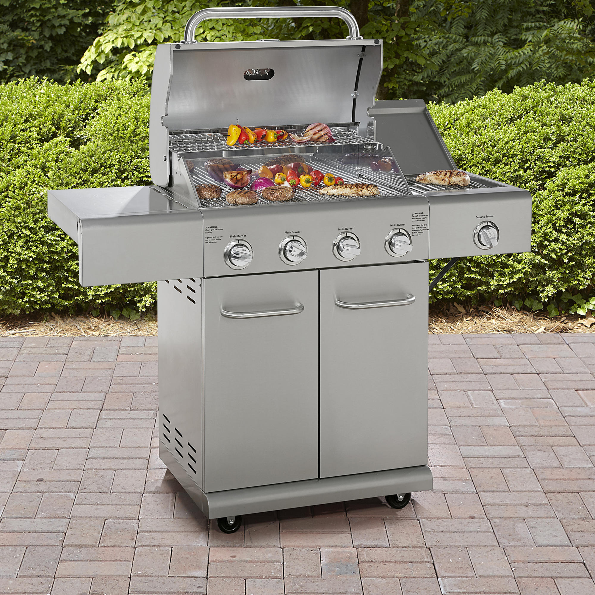 Kenmore 4 Burner All Stainless Steel Grill with Searing Side Burner