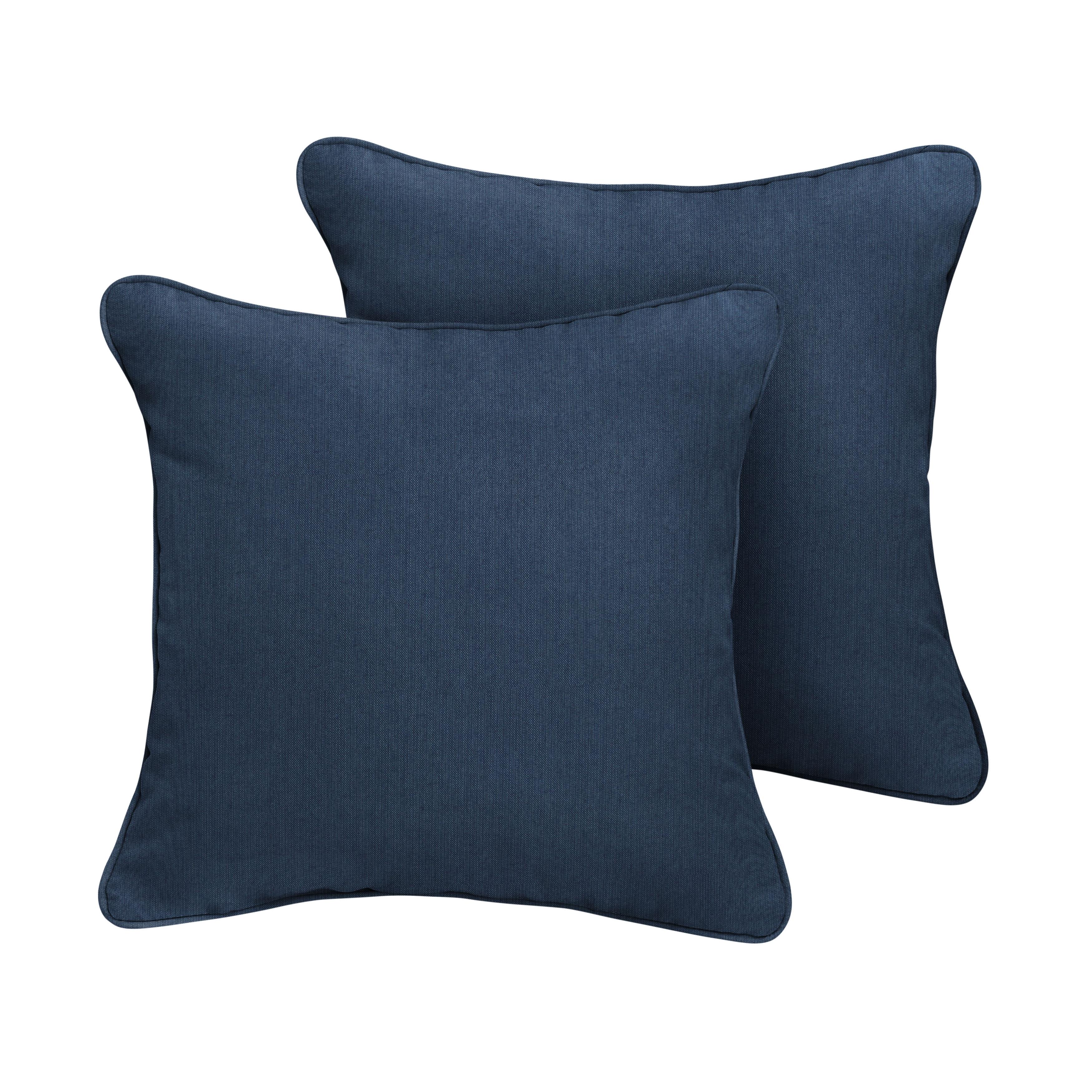 Sunbrella Pillows 18  x 18  Set of 2 in Spectrum Indigo