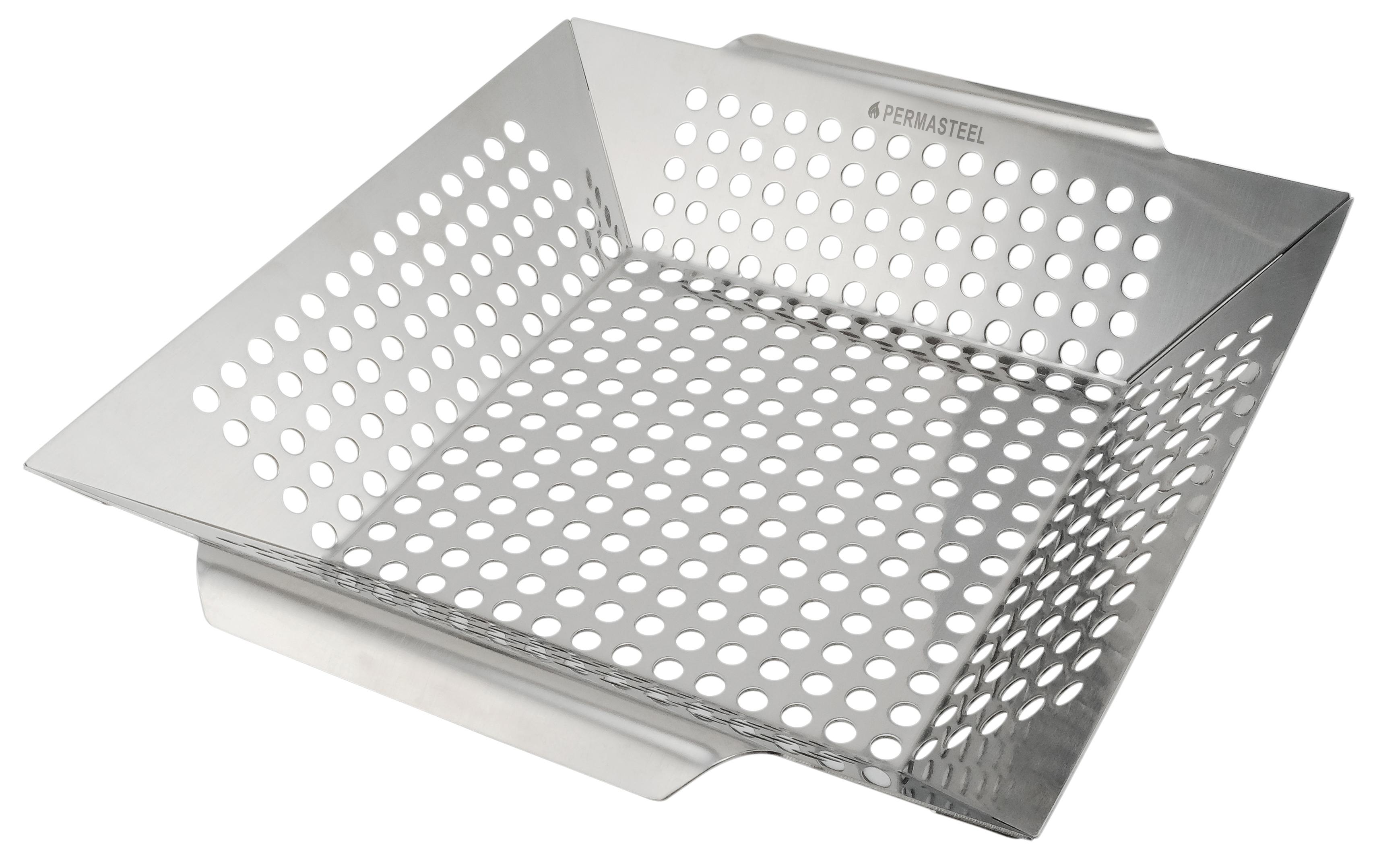 Permasteel Heavy Duty Stainless Steel Grill Basket