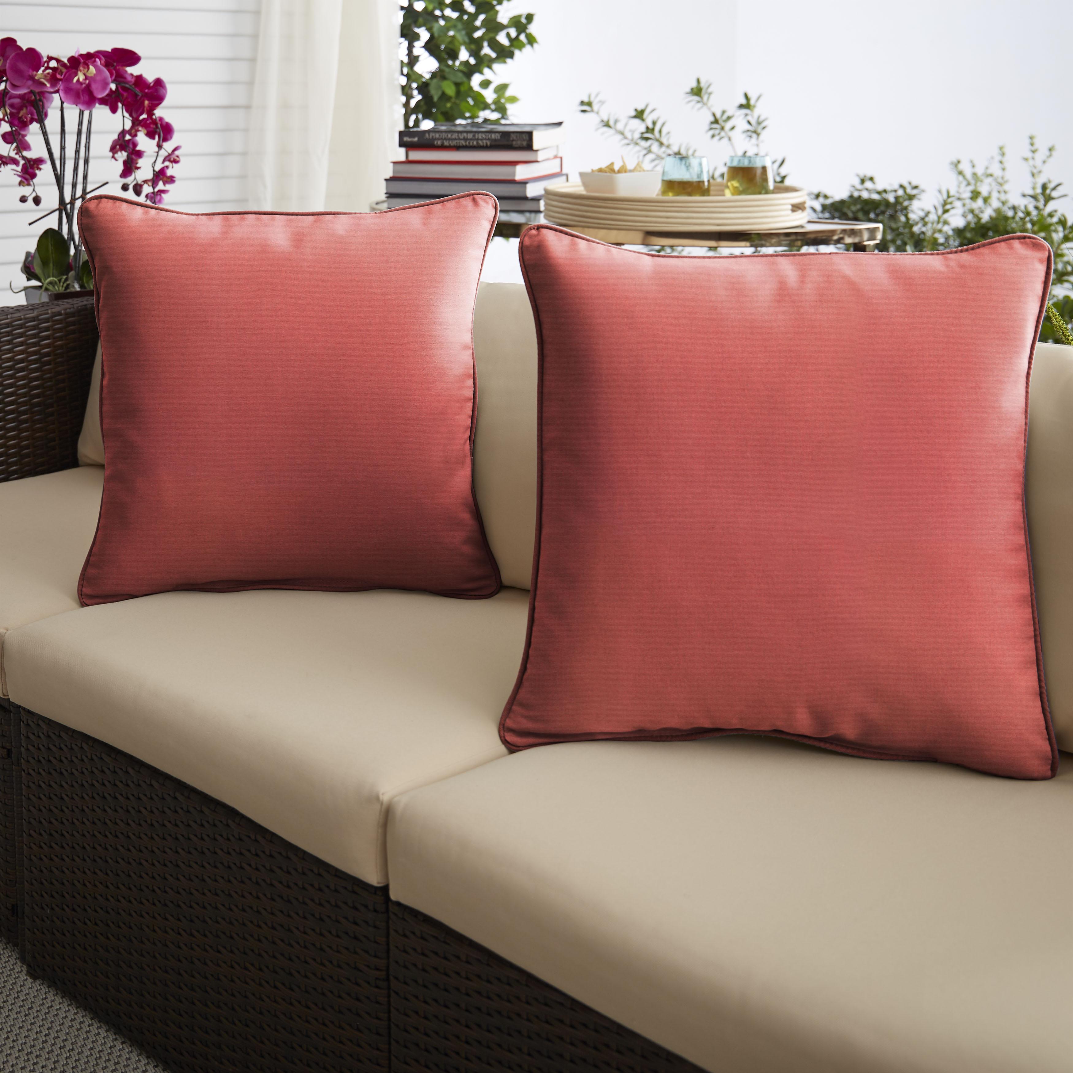 Sunbrella Canvas Henna Set of 2 Outdoor Pillows