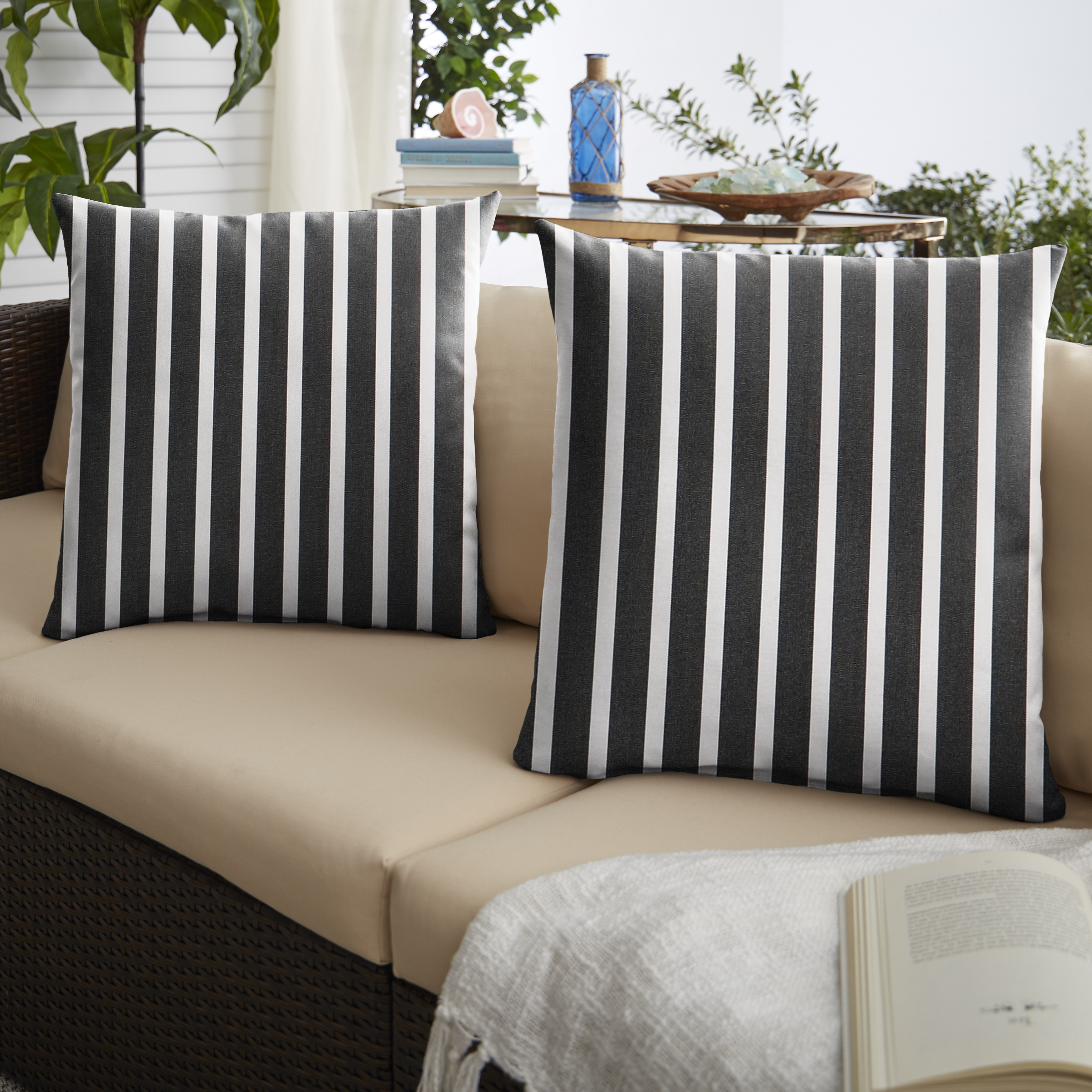 Knife Edge Shore Classic Set of 2 Outdoor Pillows