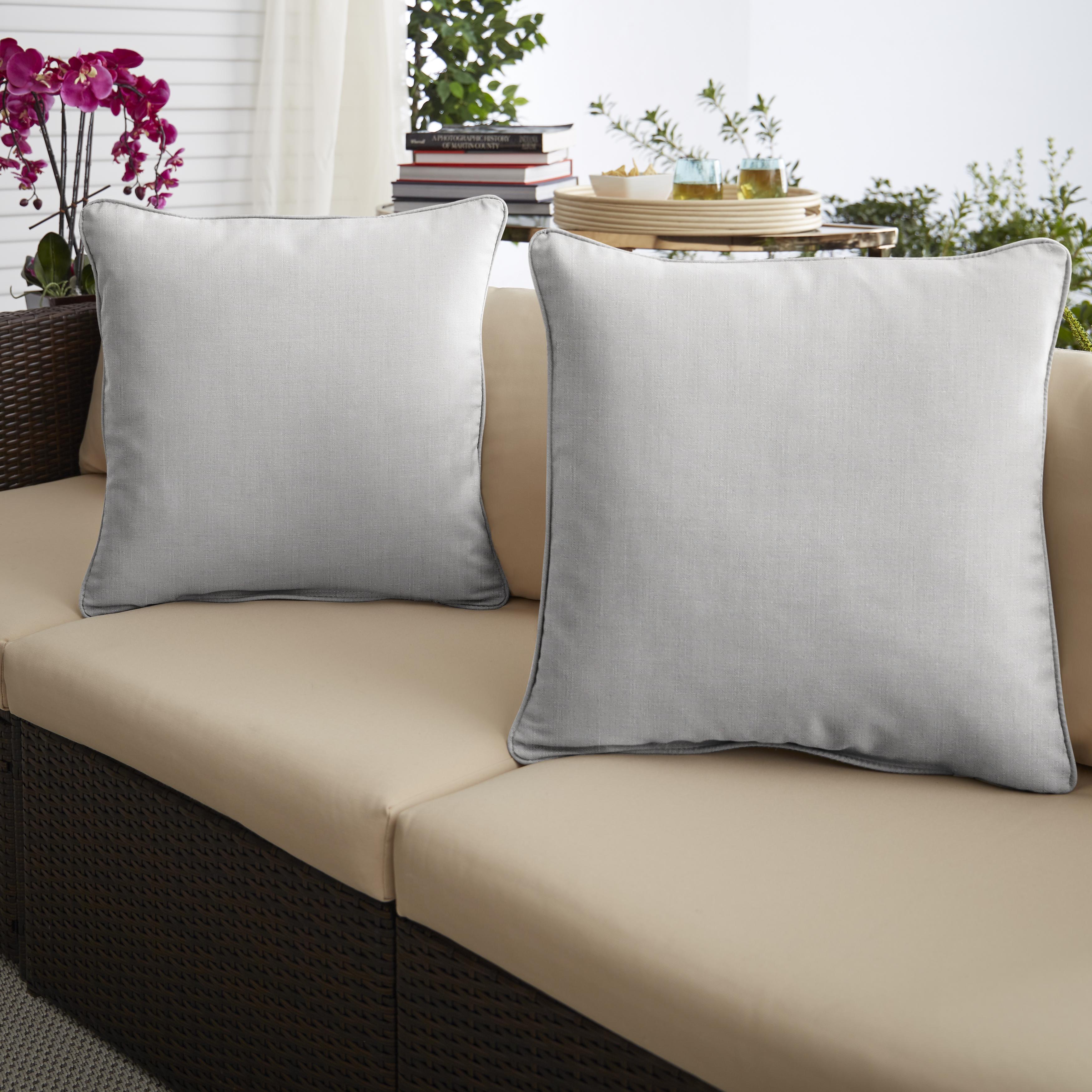 Sunbrella Cast Pumice Set of 2 Outdoor Pillows