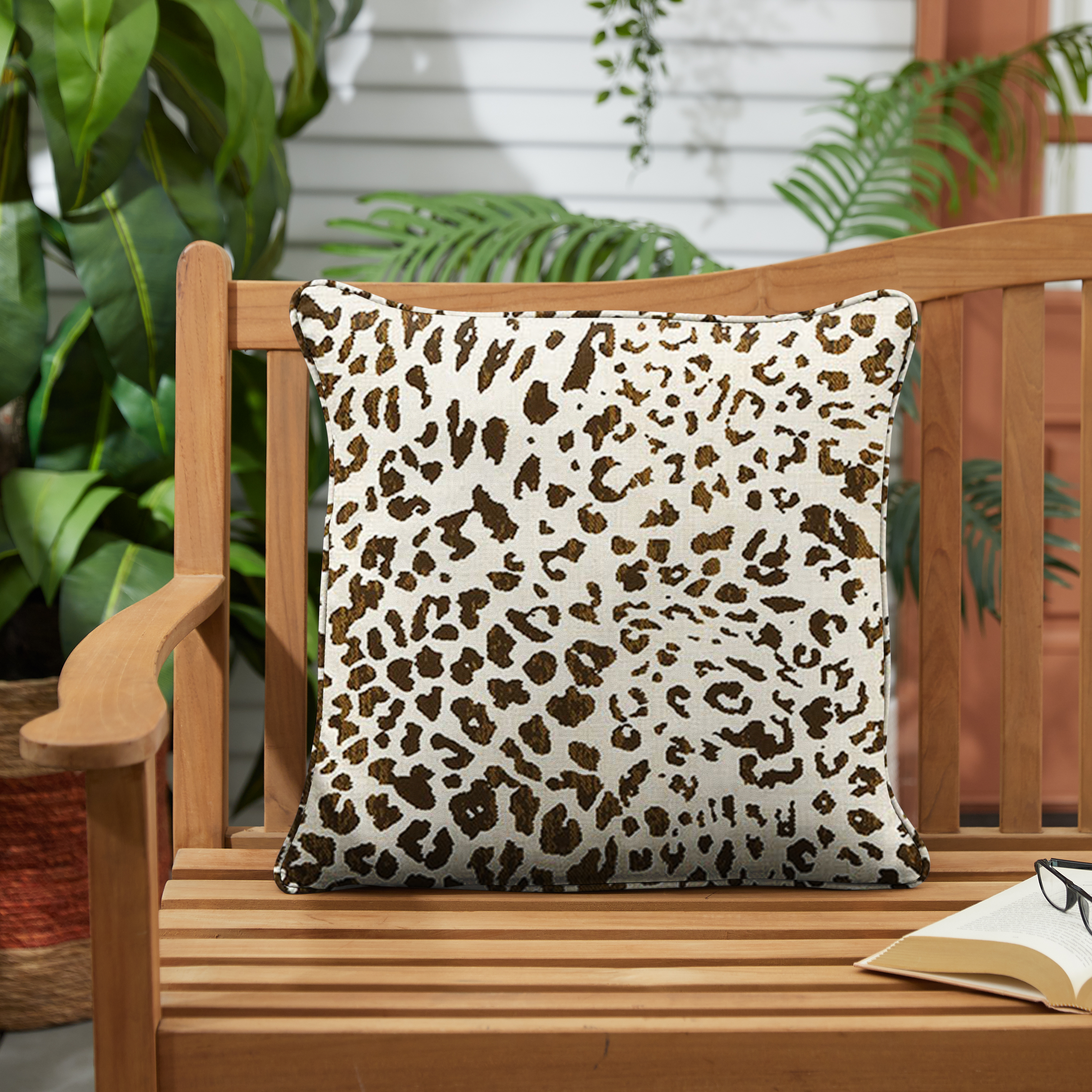 Sunbrella Instinct Espresso Set of 2 Outdoor Pillows