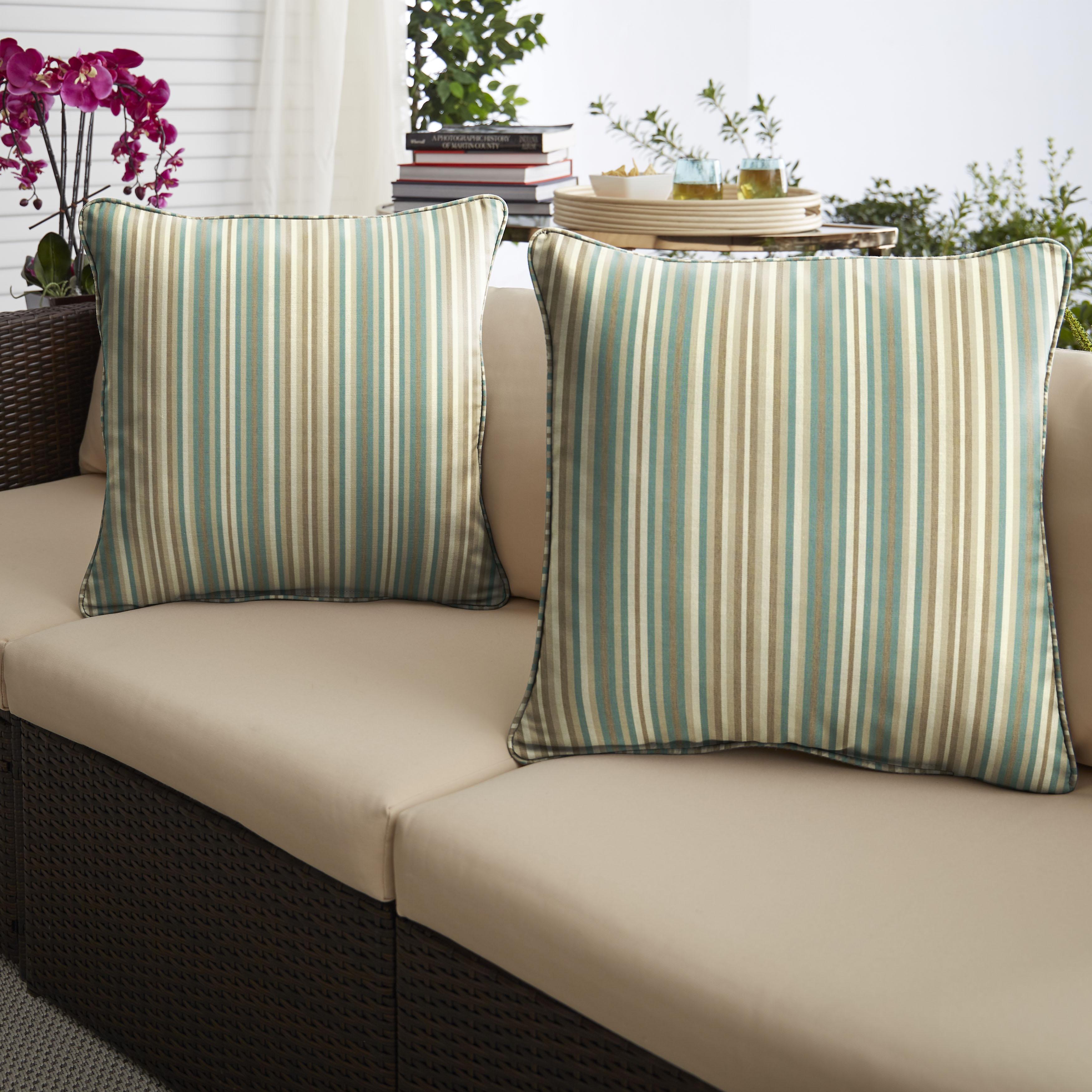 Sunbrella Gavin Mist Set of 2 Outdoor Pillows