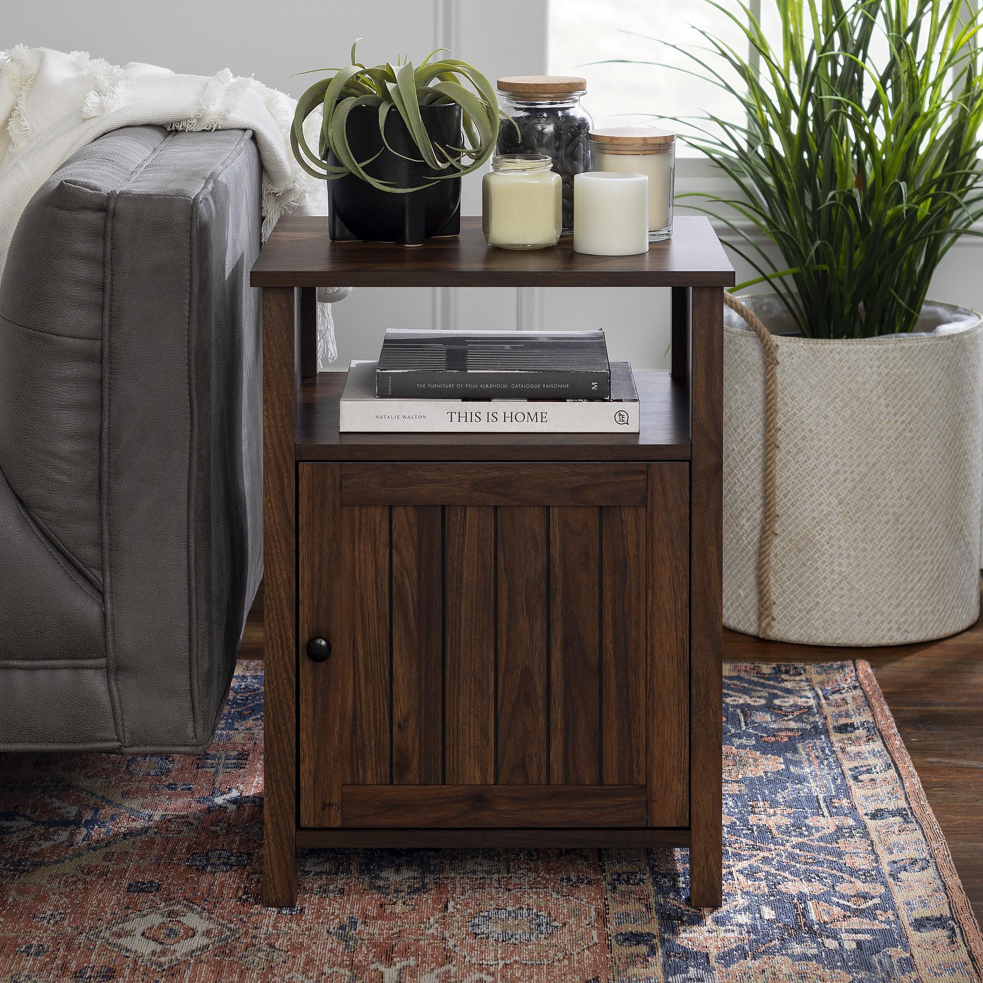 Grooved Door Side Table