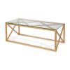 Daman Gold Glass Top Coffee Table