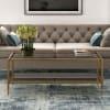 Oberon Brass Mirrored Shelf Coffee Table