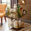 Golden Square Bar Cart