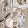 Jewel Silver Stemless Martini Glass