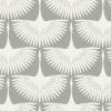 Genevieve Gorder Chalk Feather Flock Self-Adhesive Wallpaper