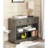 Cutro Gray Bookshelf Storage Unit