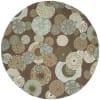 Brown Disco 8' Round Rug