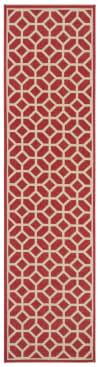 Red Polypropylene Rug 2.5' x 9'