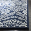 Navy Wool Rug 4' x 6'