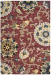 Morgan 401 2' X 3' Red Wool Rug
