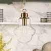 Brass and Clear Glass Pendant