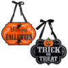 Trick Or Treat & Happy Halloween Hanging Signs (Set of 2)